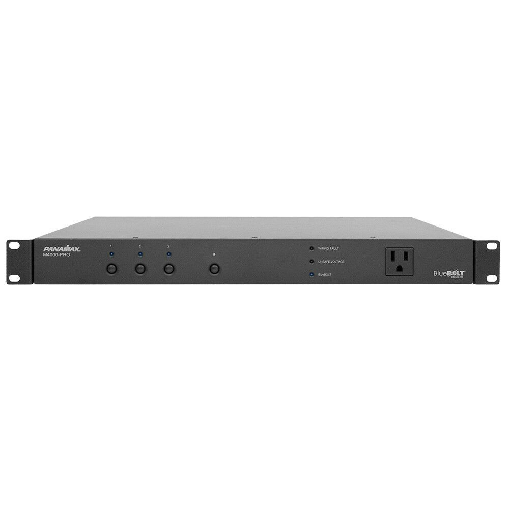 panamax m4000 pro rack mount power bank w surge protector us authorized dealer ebay. Black Bedroom Furniture Sets. Home Design Ideas
