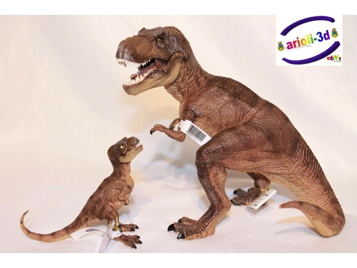 lot brown t rex tyrannosaurus baby jurassic world dinosaur papo figurine new ebay. Black Bedroom Furniture Sets. Home Design Ideas