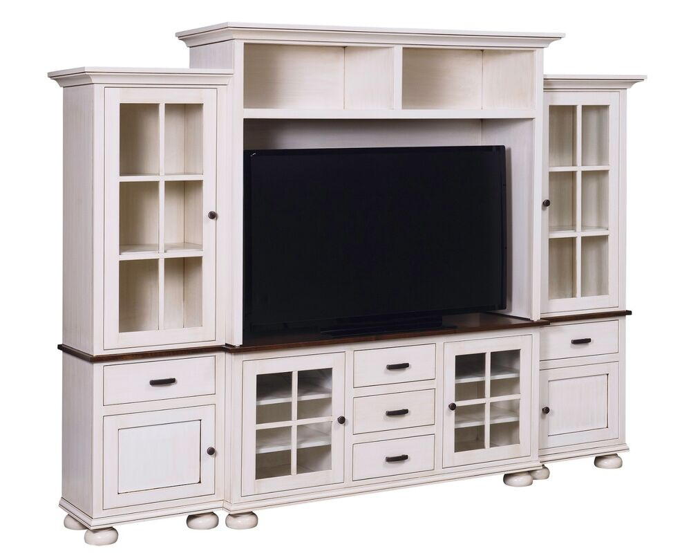 Amish Cottage Country TV Entertainment Center Wall Unit