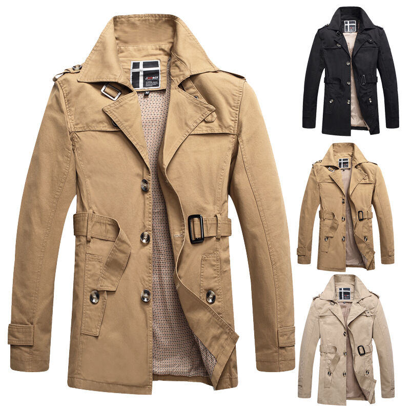 herren winter mantel jacke slim fit trenchcoat wintermantel winterjacke parkas ebay. Black Bedroom Furniture Sets. Home Design Ideas