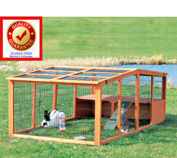 Outdoor animal run cage for small animal rabbit etc for Outdoor guinea pig cage