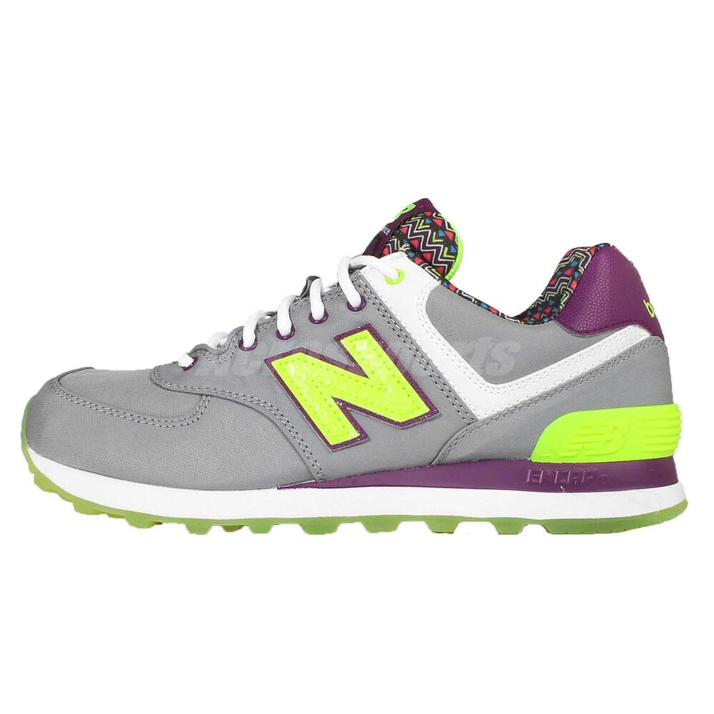 new balance wl574sbf b grey yellow purple womens retro running shoes wl574sbfb ebay. Black Bedroom Furniture Sets. Home Design Ideas