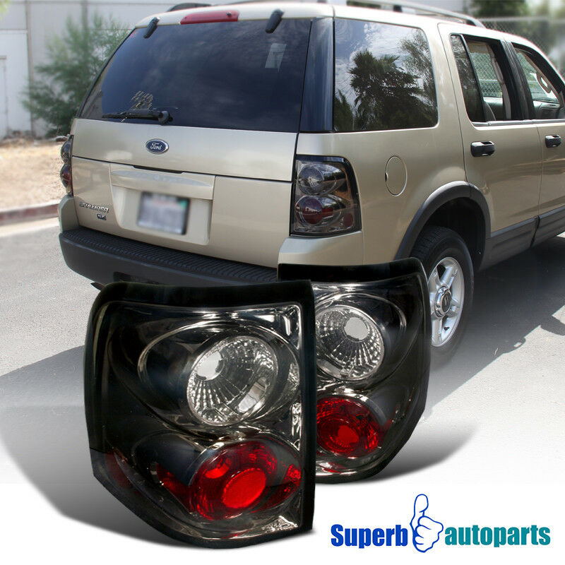 Details About 2002 2005 Ford Explorer Replacement Tail Lamps Brake Lights Smoke