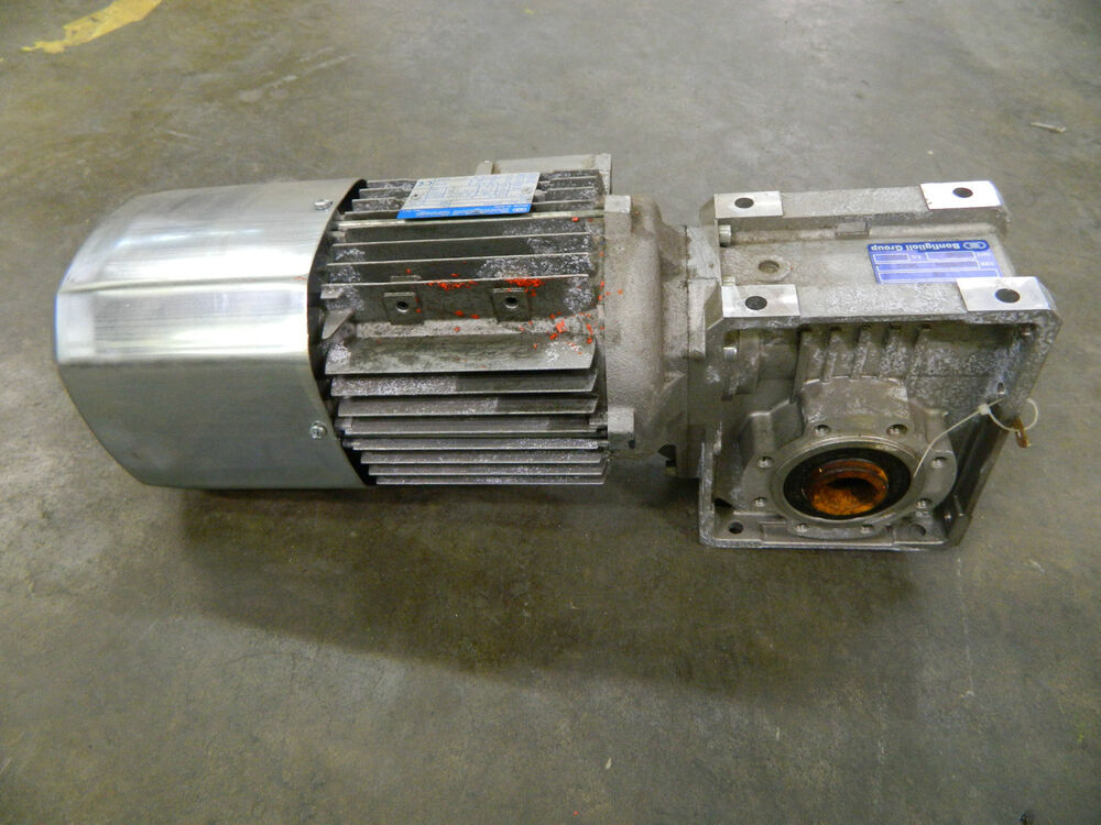 New Bonfiglioli 046732 Electric Motor Gearbox 0 9kw 460v