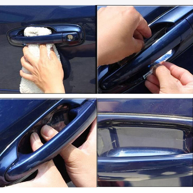 valuable invisible stickers on cars door handle scratch paint protector film ue ebay. Black Bedroom Furniture Sets. Home Design Ideas