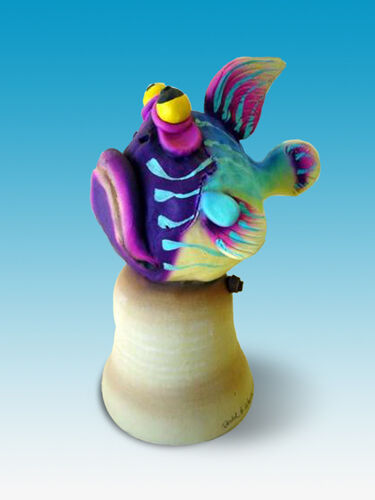 Todd warner fish animal dinner bell series ceramic for Todd s tropical fish