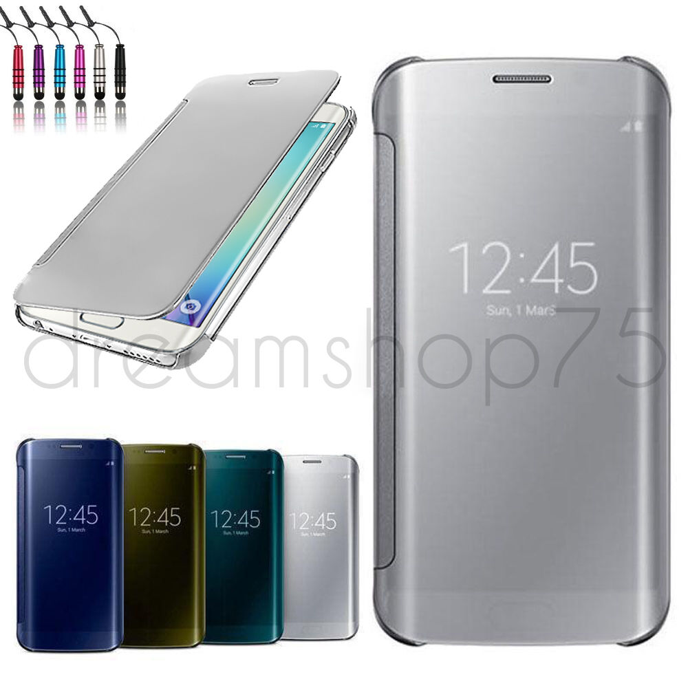 Housse coque etui flip cover transparent samsung galaxy au for Housse samsung galaxy