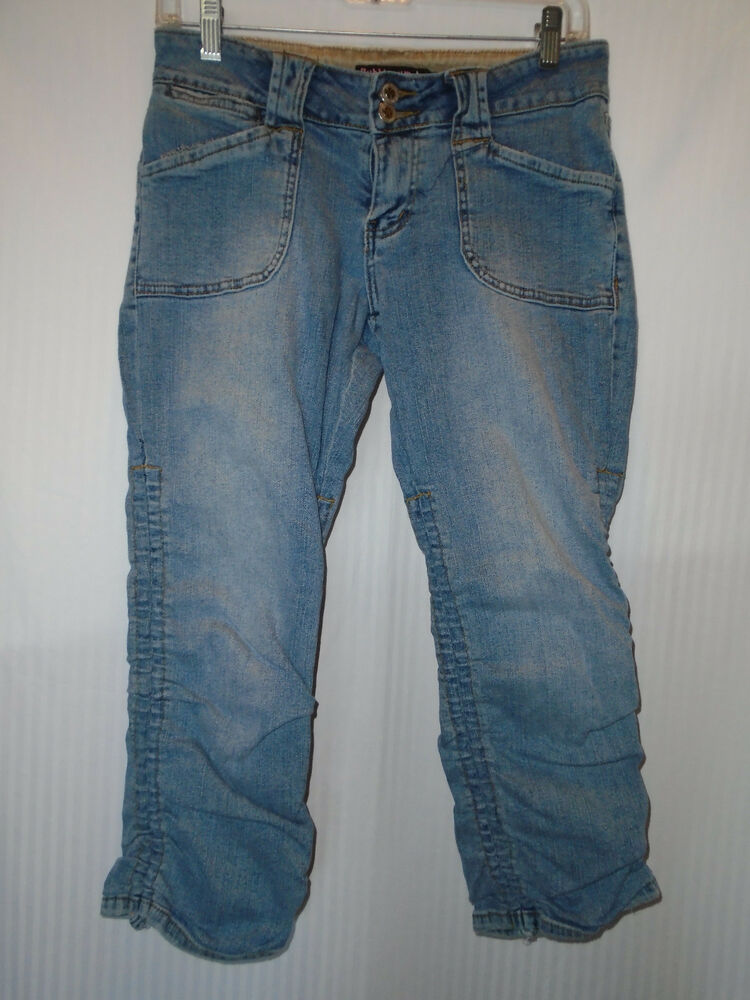 bubblegum womans cropped ranched jeans size 7 8 ebay. Black Bedroom Furniture Sets. Home Design Ideas