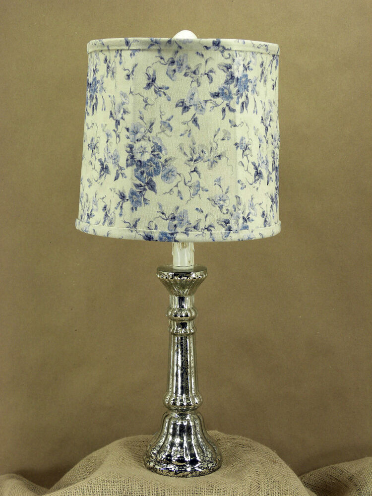 Silver Mercury Table Lamp And Shade Ebay