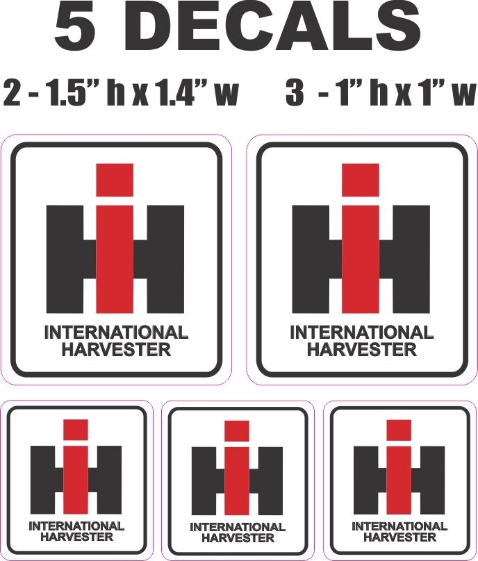 International Harvester Decals And Stickers : Square ih international harvester tractor vinyl decals