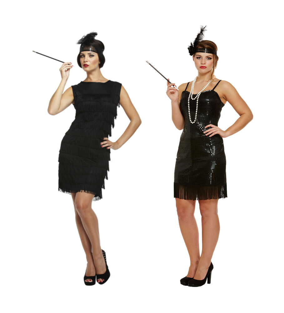 Flapper Ladies 20s 30s Fancy Dress Womens 1920s Great Gatsby Adults Lady Costume Ebay