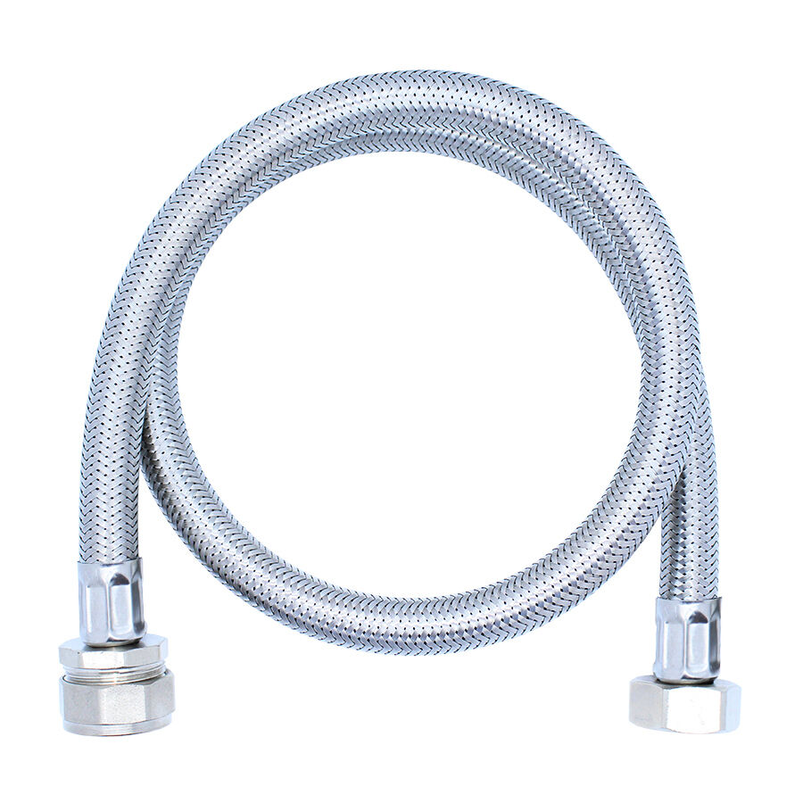 One or pair 3 4 x 22mm flexible hose tap connector 900mm long tube basin sink ebay - Connect hose to sink ...
