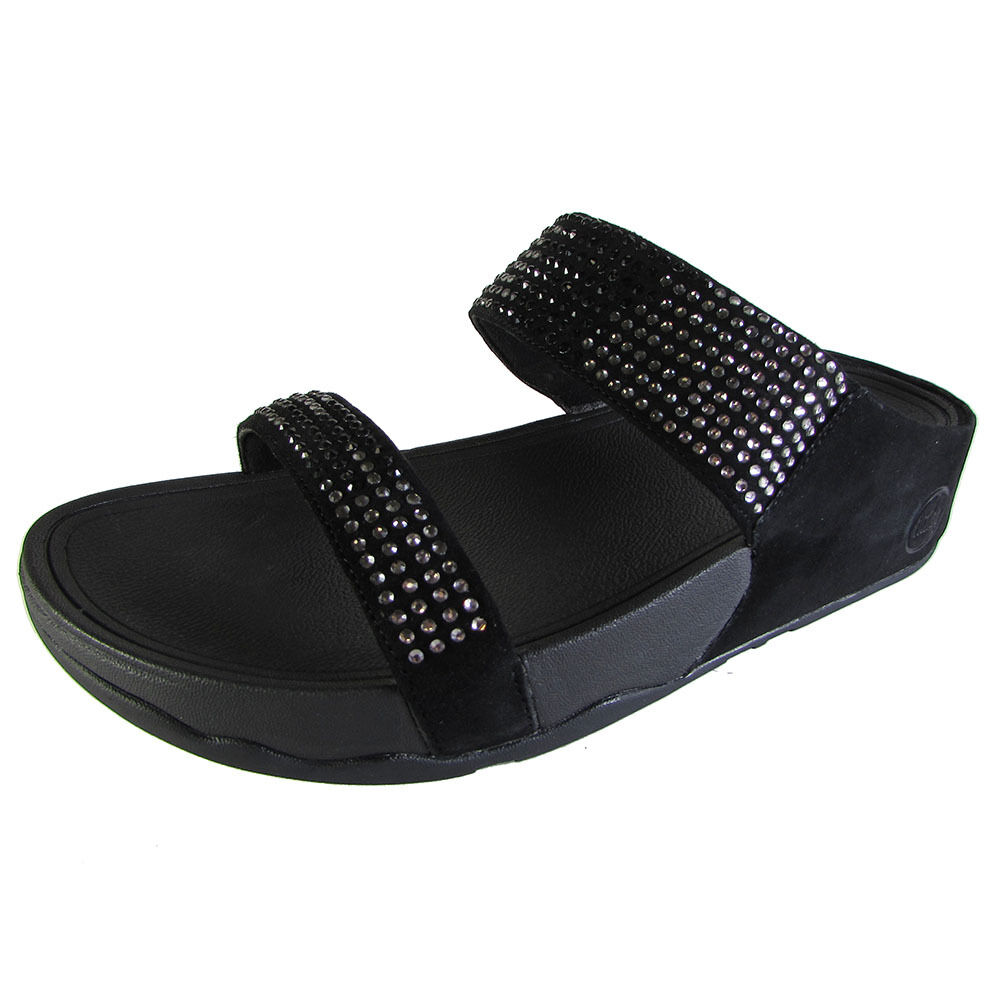 837abb6be1a8 Fitflop Flare Slide Black Womens Sandals