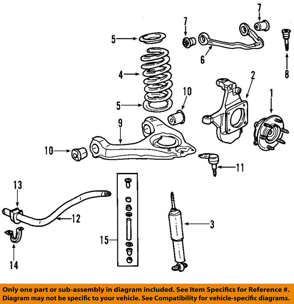 2012 silverado suspension diagram gm oem front suspension-shock absorber 19300031 | ebay 2012 silverado wiring diagram pdf