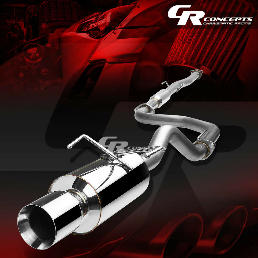 "4"" MUFFLER ROLLED TIP CATBACK RACING EXHAUST SYSTEM FOR 94"