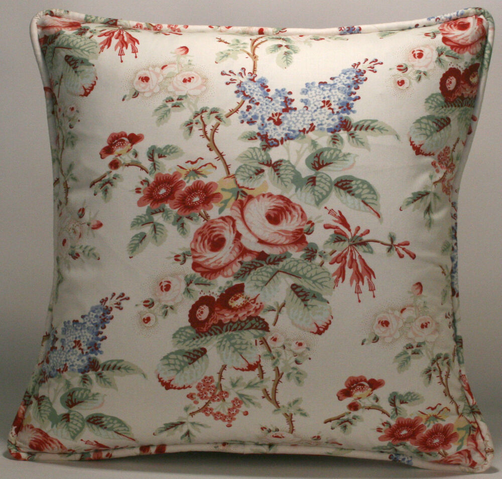 2 18 Quot Laura Ashley English Country Red And Green Floral