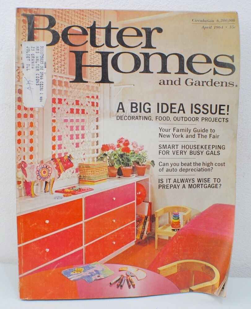 Better homes and gardens magazine a big idea issue 1964 Better homes and gardens current issue
