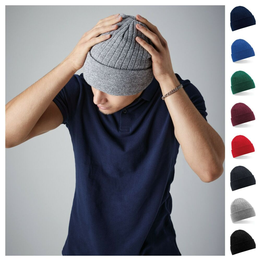 Details about Thinsulate Beanie Knitted Mens Hat Warm Winter Wooly Ribbed  Thermal Ski Soft ba6c43dbe34