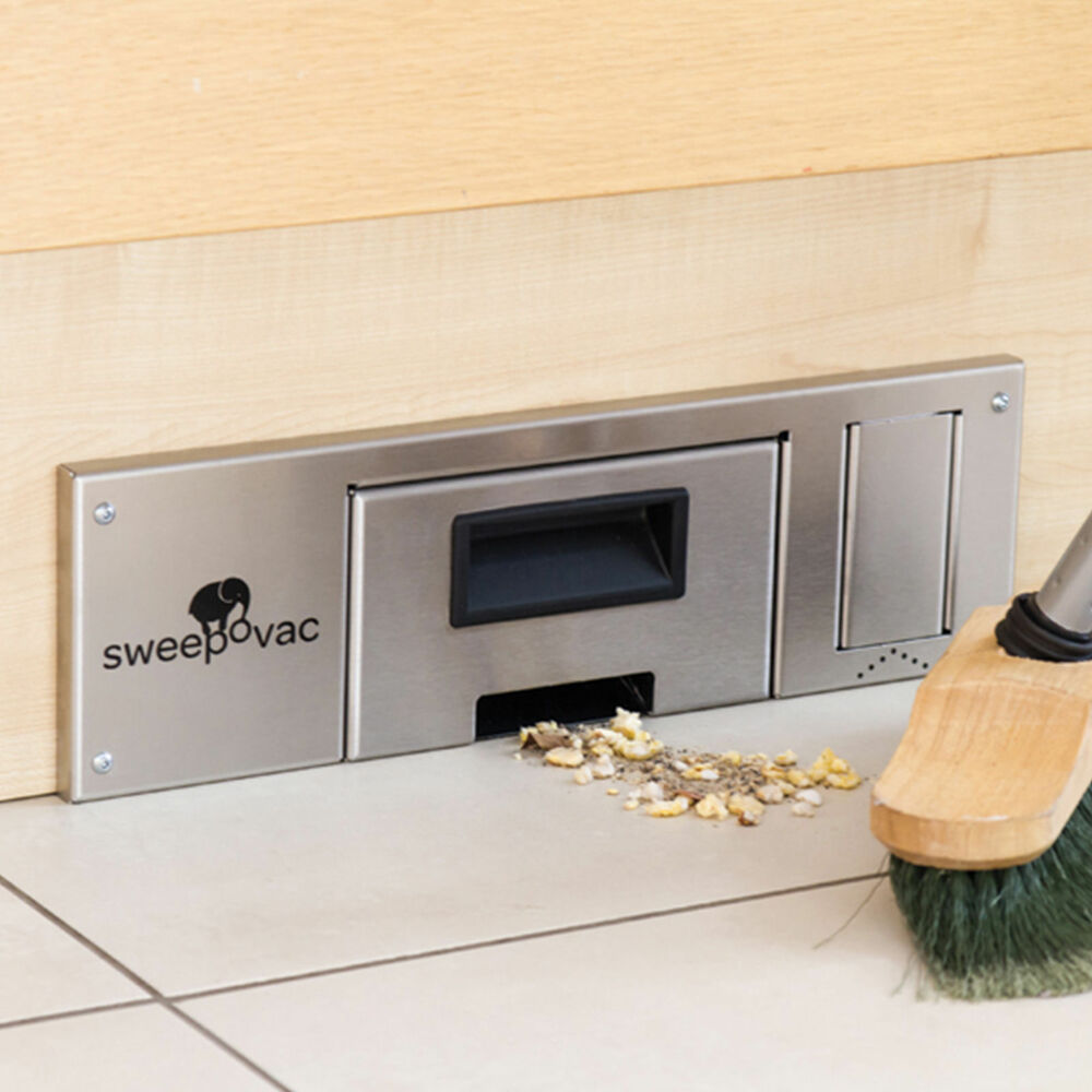 Sweepovac Kitchen Vacuum For Plinths. Powerful Hard Floor Suction Hoover