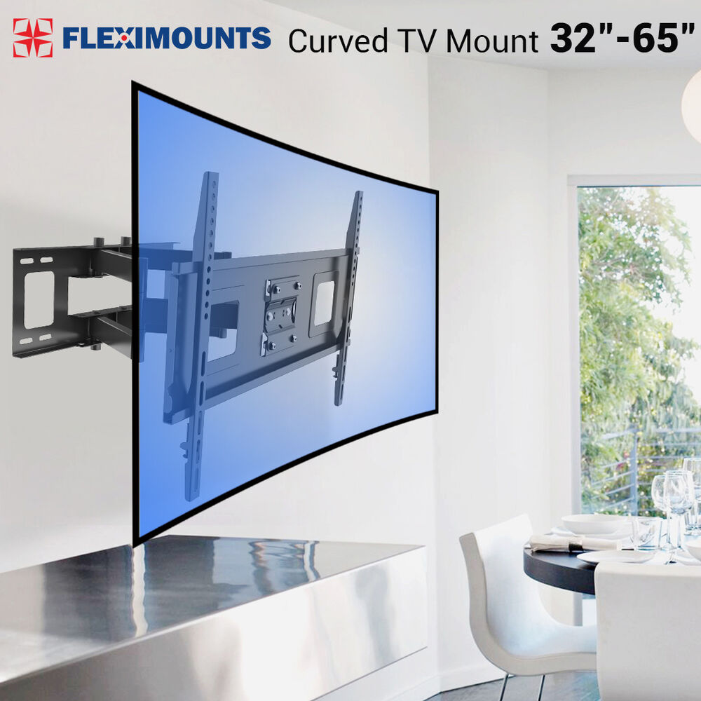 Curved uhd uled tv wall mount swivel lcd led full motion for Samsung motorized tv wall mount