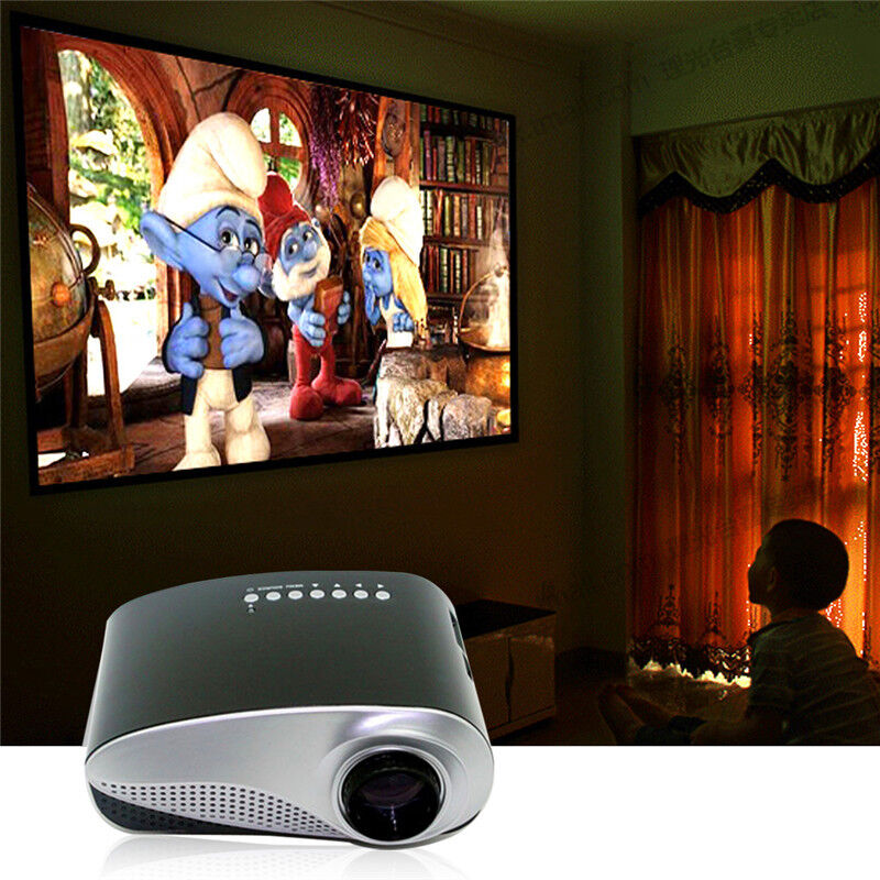 Hiperdeal Home Cinema Theater Multimedia Led Lcd Projector: Mini Portable Home Cinema Theater LED Projector HD