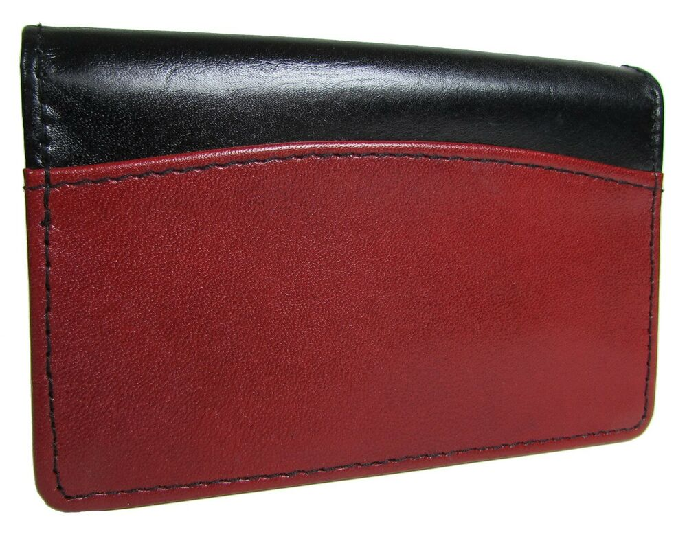 New buxton leather business and credit card case holder for Buxton business card case