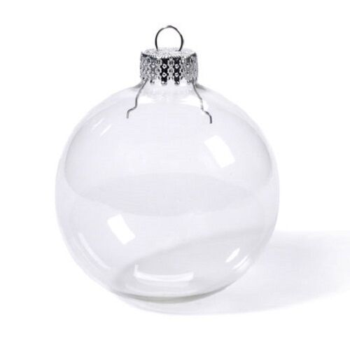 Lot of clear round glass ball shaped ornaments mm