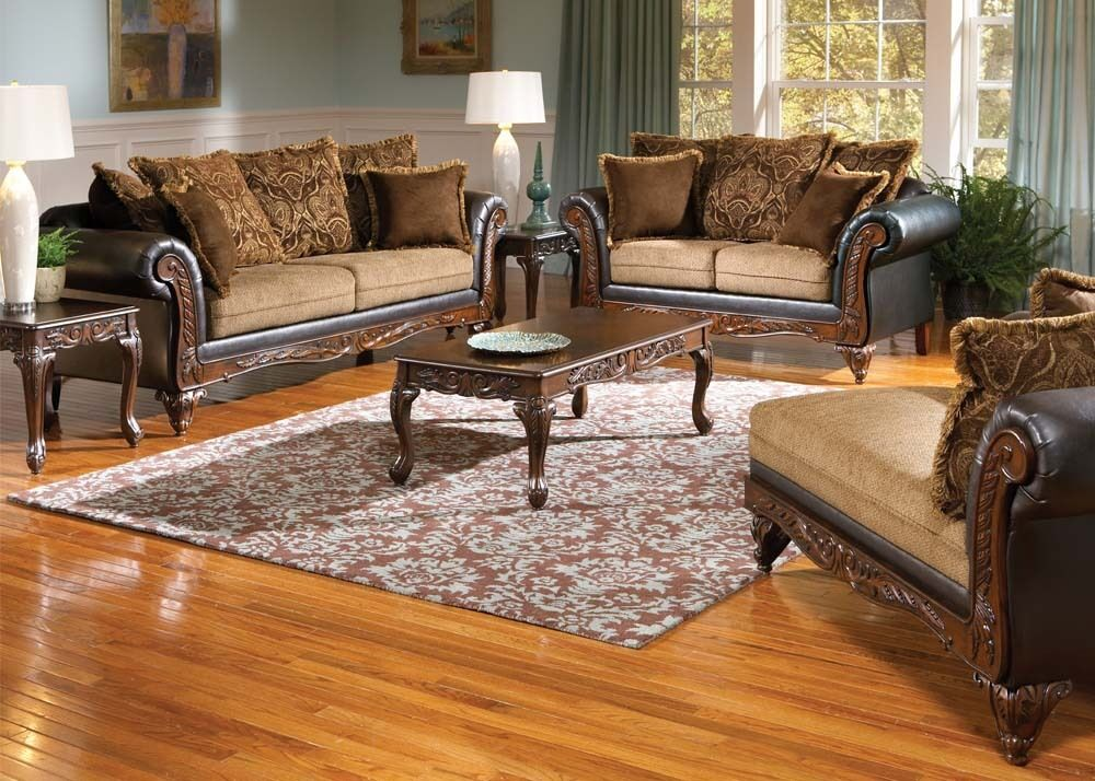living room set with chaise serta ronalynn formal antique style sofa seat 20563