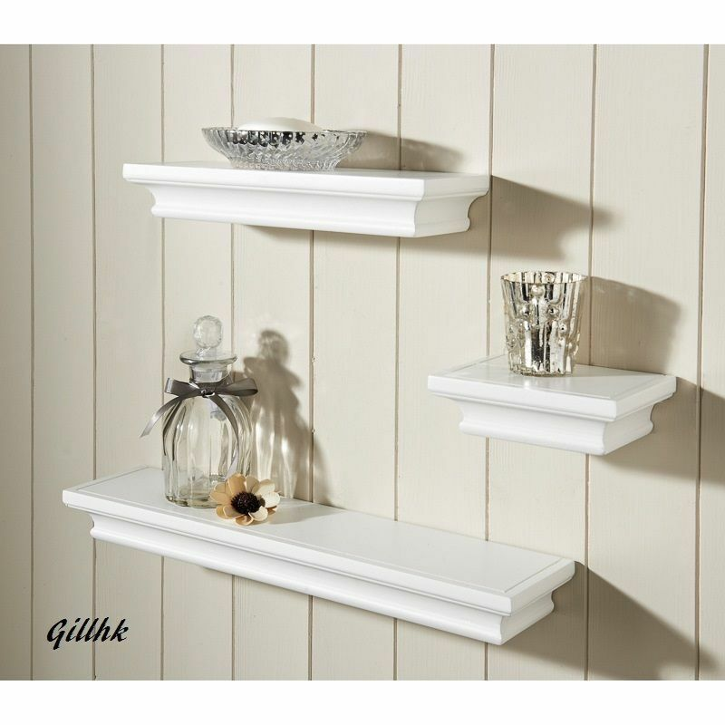 Shabby Chic Set Of 3 Wall Floating Shelves Available In