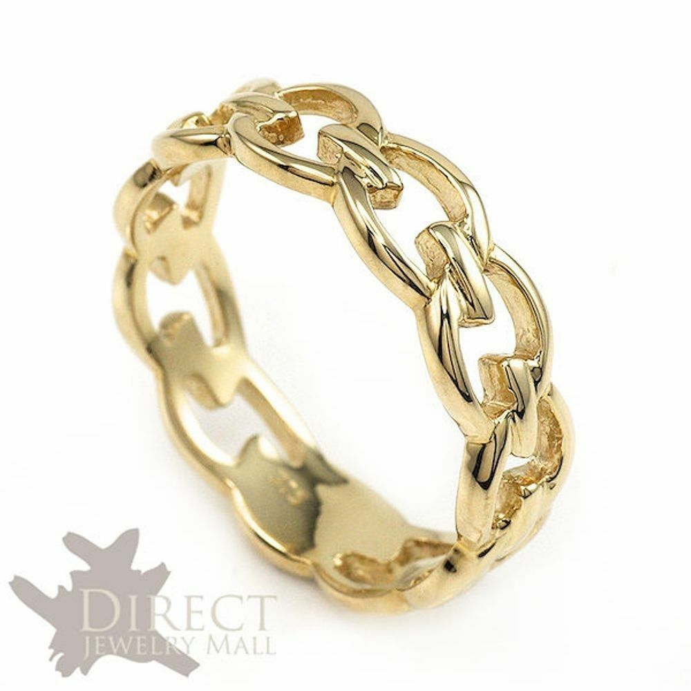 6mm 10K REAL Yellow GOLD Hand Made Celtic Eternity Wedding