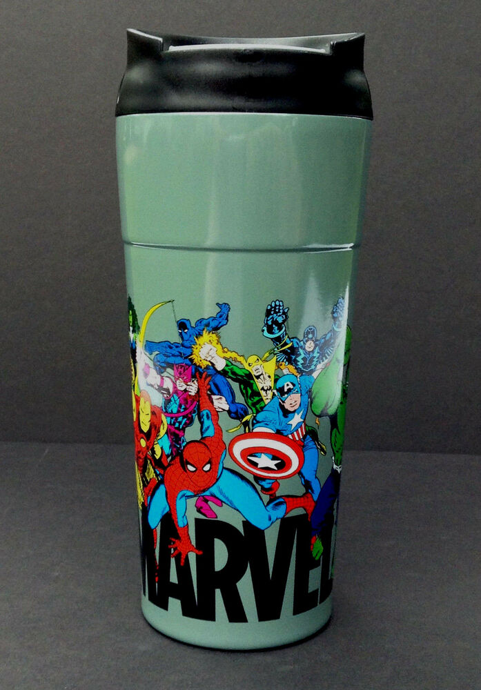 New Disney Store Marvel Comics Travel Coffee Mug Stainless