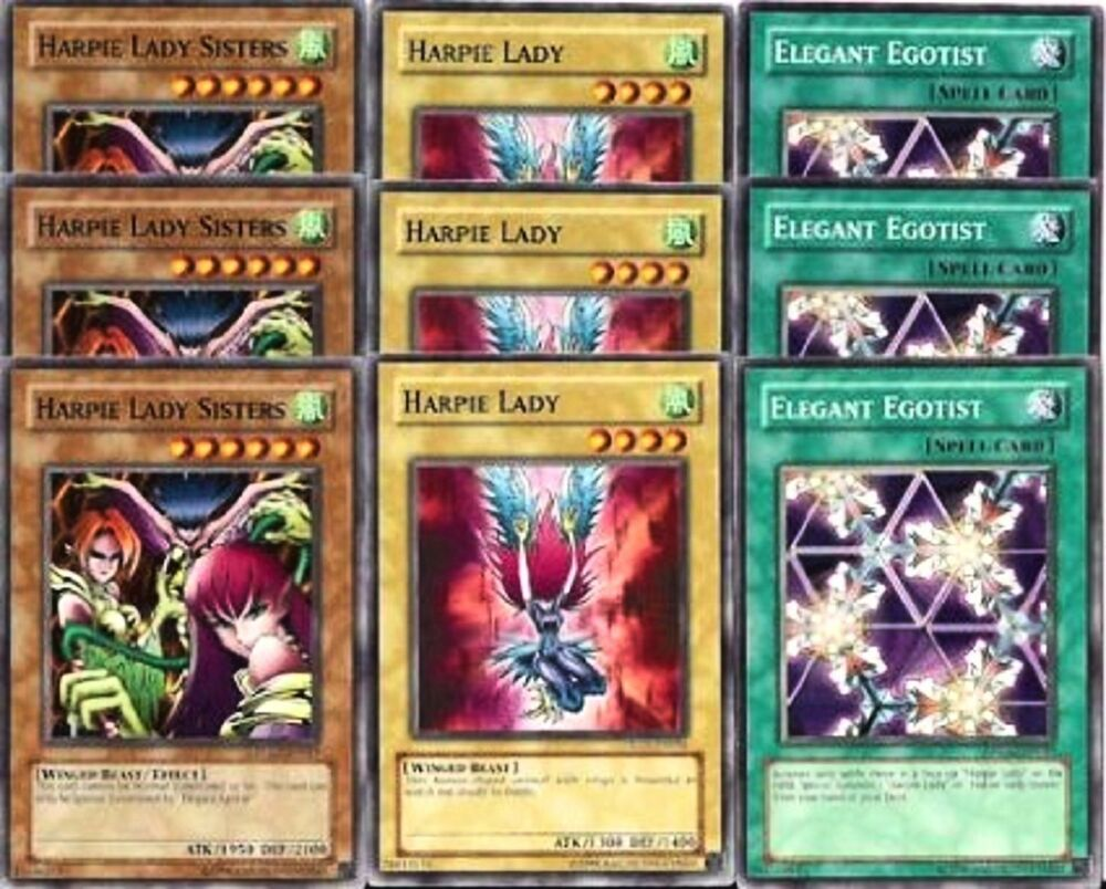 Yugioh Harpie Lady 9 Cards 6 Holo ...