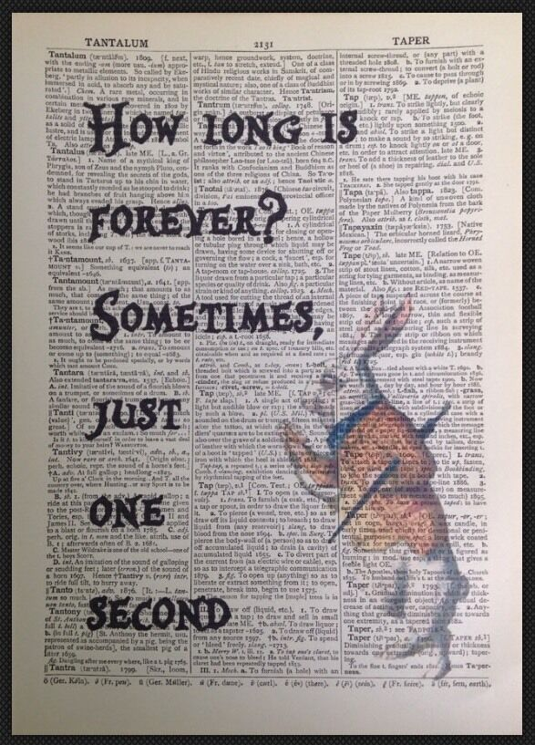 Alice In Wonderland How Long Is Forever Quote Vintage