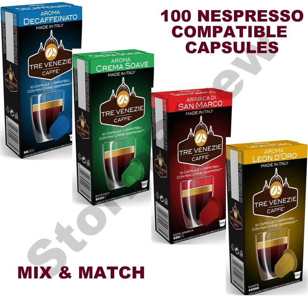 100 nespresso compatible coffee capsules pods 50 savings vs originals ebay. Black Bedroom Furniture Sets. Home Design Ideas
