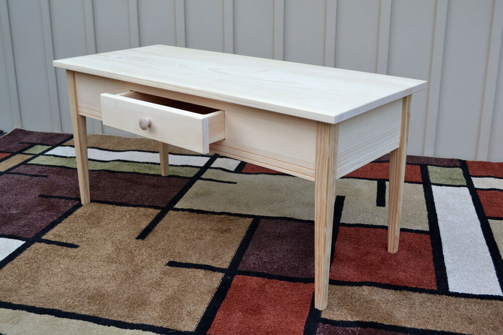 unfinished coffee table tapered leg shaker square edge