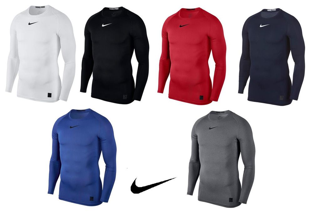 Mens nike pro combat compression long sleeve t shirt base for Xxl long sleeve t shirts