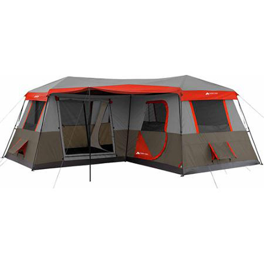Large camping tent 12 person 3 rooms instant red 16 39 x16 for 12 by 16 room