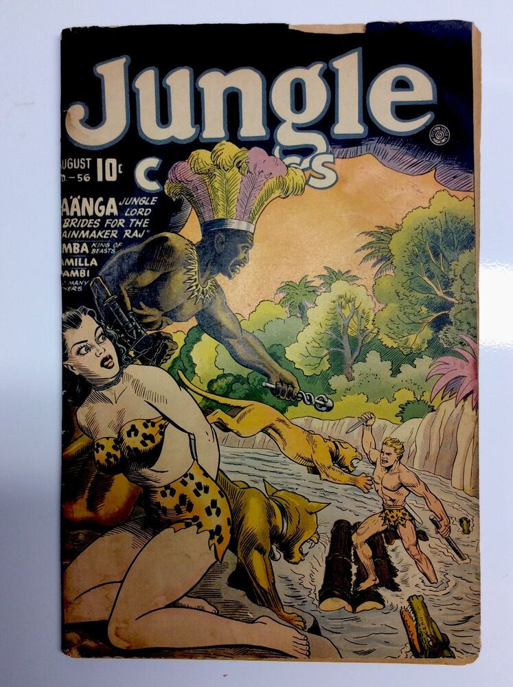 56 Great Motivational Quotes That Will Make Your Day: JUNGLE COMICS #56,,GREAT BONDAGE COVER!