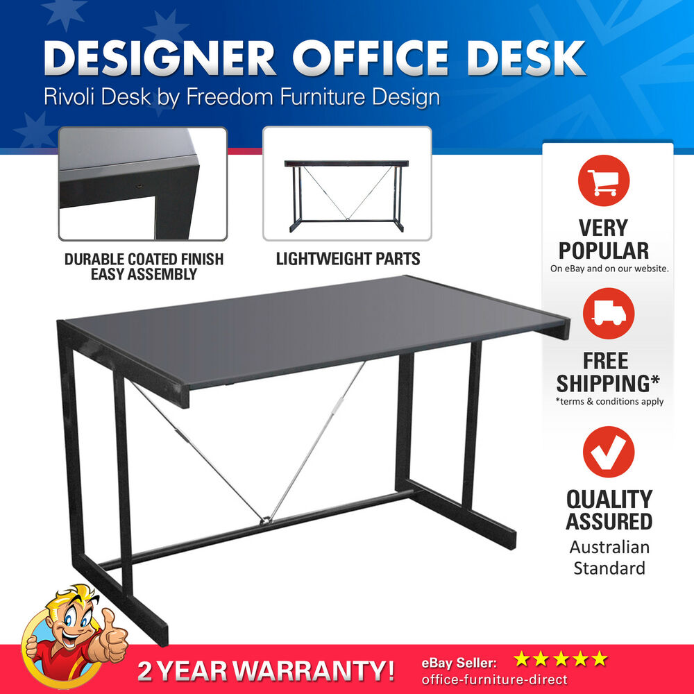 Office Desk Computer Study Furniture Desks Rivoli Freedom Student Home Metal Ebay