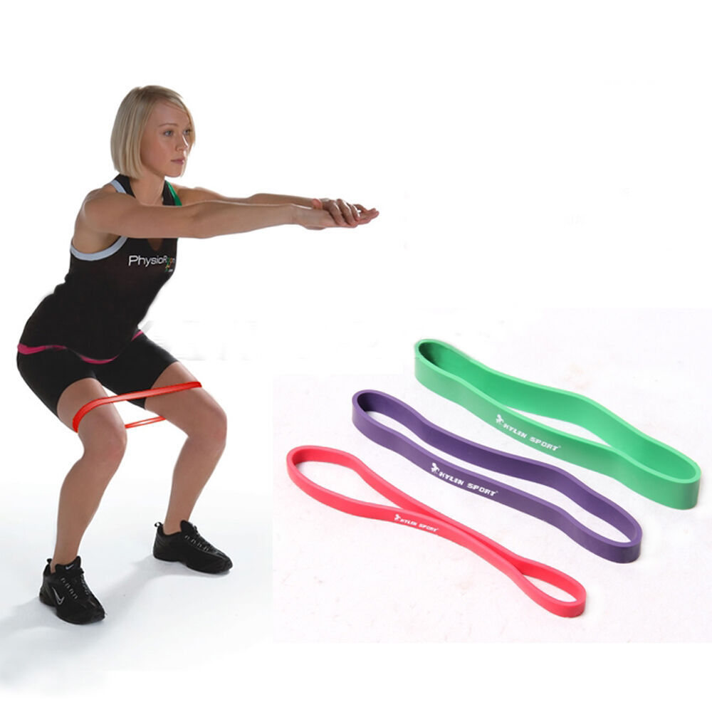 Set Of 3 Heavy Duty Resistance Band Loop Exercise Yoga