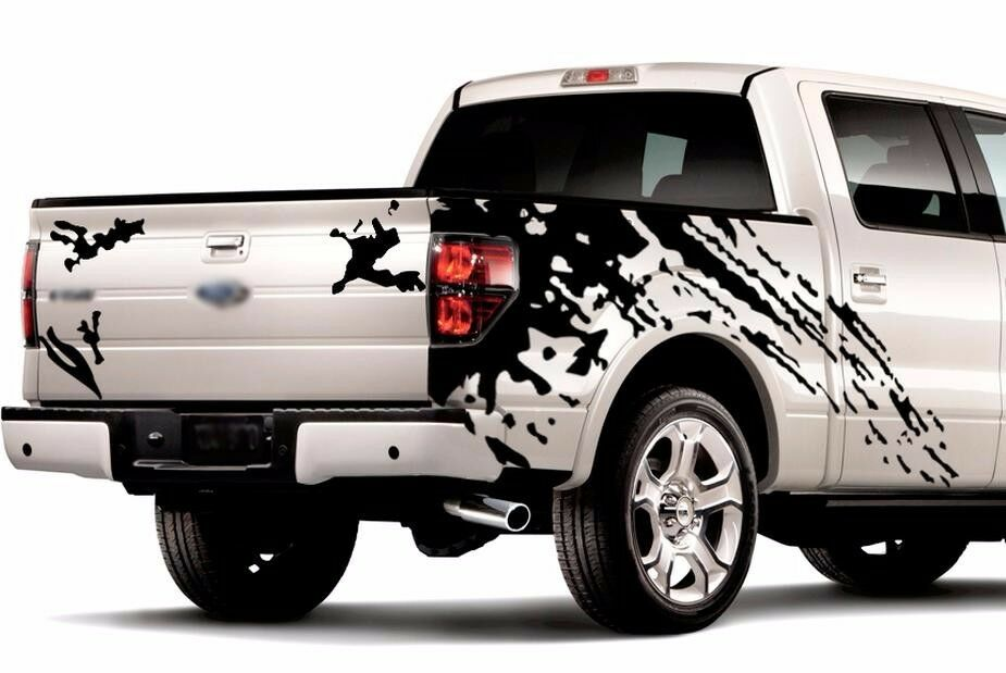 Ford Raptor Logo Vector >> MUD SPLASH GRAPHICS Vinyl Stickers Decals for truck pick up f-150 tundra ram | eBay