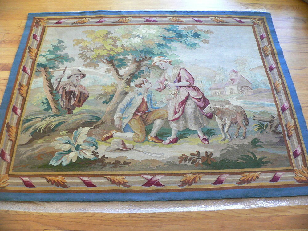 Antique 19th Century French Aubusson Tapestry Ebay