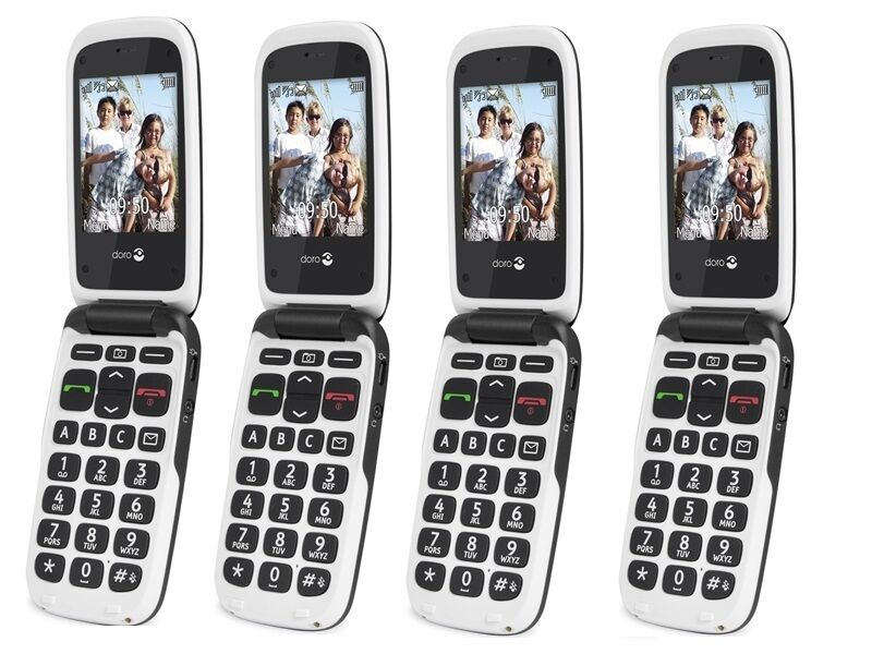 New Doro Phone Easy 611 612 Greywhite Easy To Use Camera Unlocked