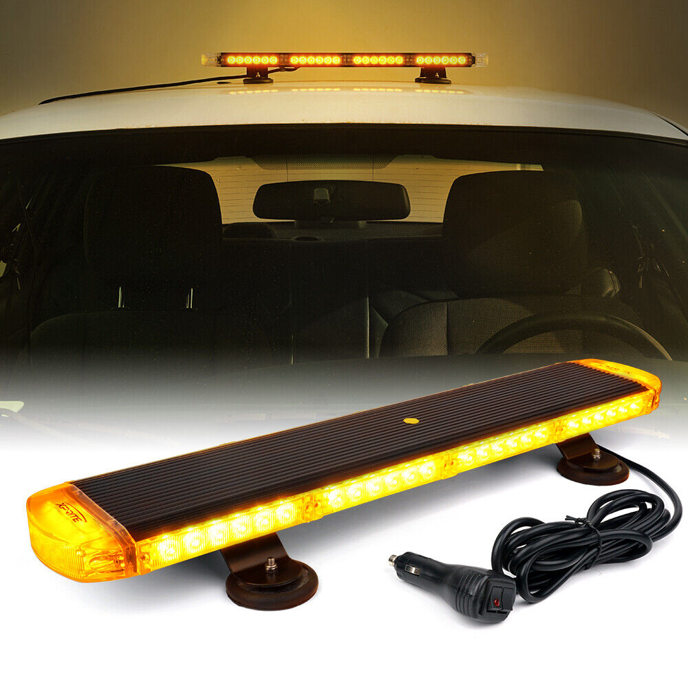 New 88 Led Cob Amber 47 Quot Inch 28 Modes Rooftop Emergency