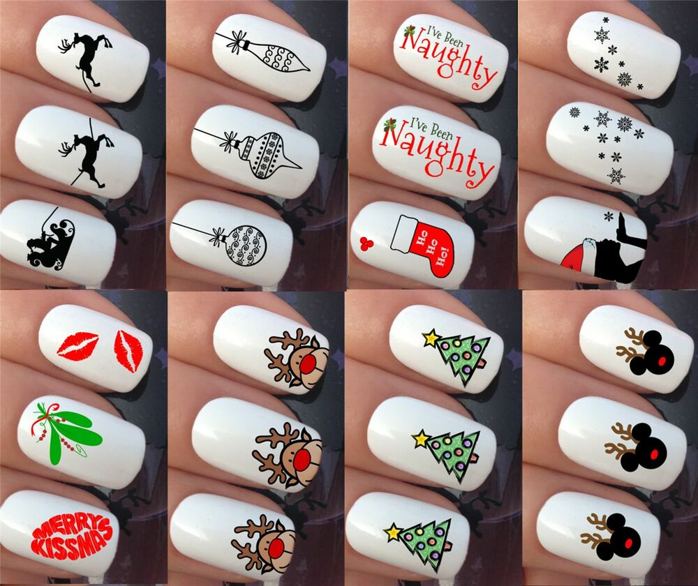 Reindeer Nail Art: CHRISTMAS NAIL ART STICKERS DECALS WATER TRANSFERS