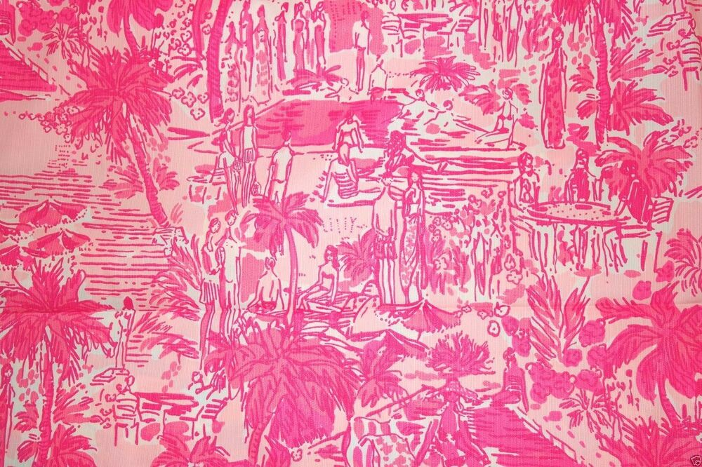 2015 lilly pulitzer cotton dobby fabric rule breakers 1 yard ebay