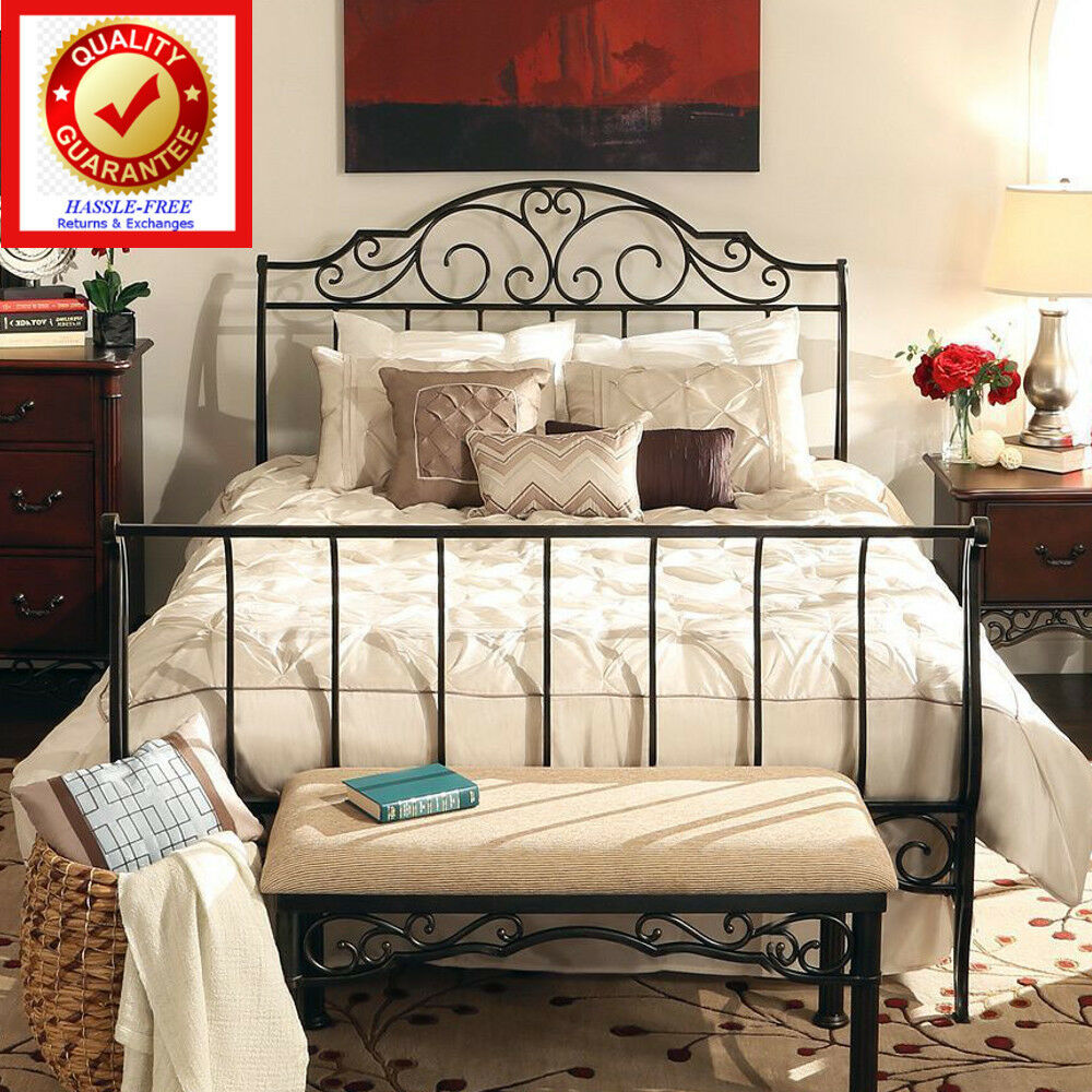 Cast Iron Sleigh Bed With Beautiful Traditional Victorian