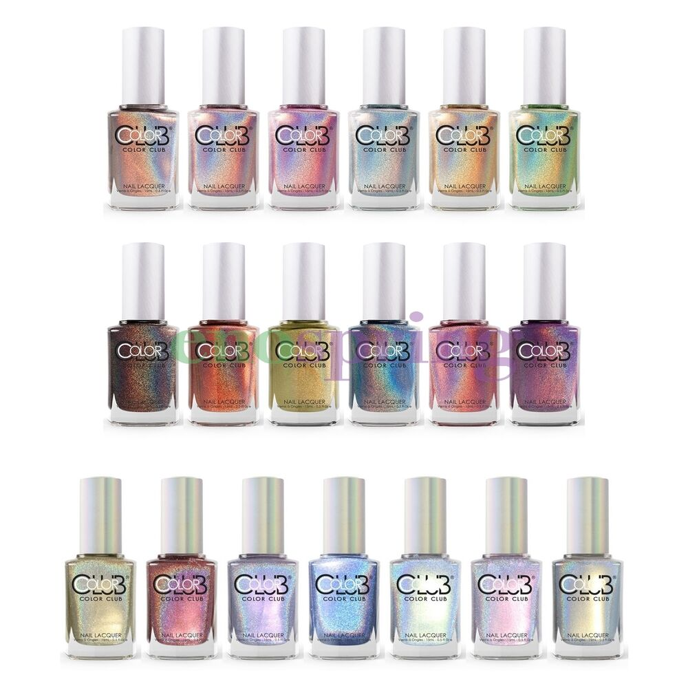 Color Club Halo Hues Holographic Nail Polish Complete Collection Set Of 19 Ebay