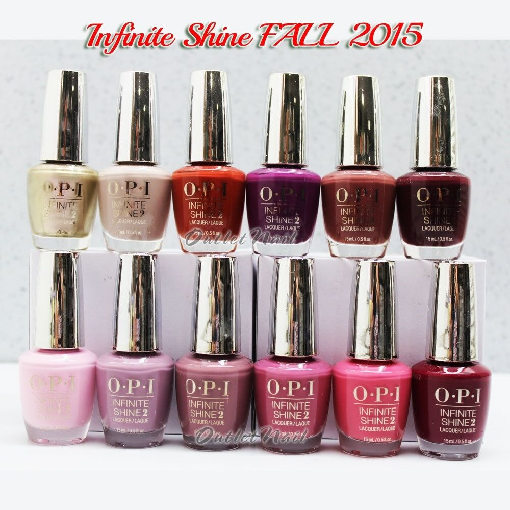 OPI INFINITE SHINE SET 12 ALL Colors FALL 2015 Collection