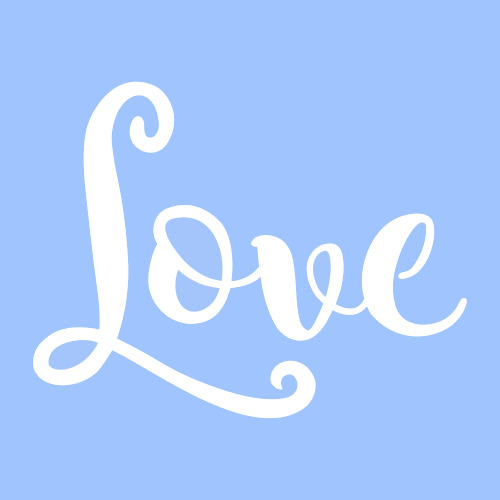 3 love stencil word stencils template paint craft art for Plos one word template